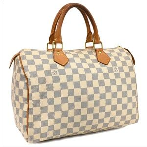 💎✨AZUR SPEEDY✨💎 Auth Louis Vuitton Damier 30 Bag